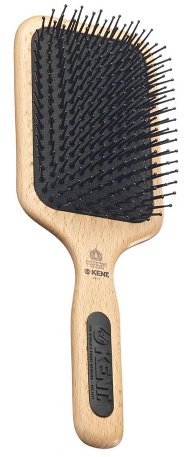 Kent Mega-Phine Large Taming Paddle BRUSH Nylon Ball Tip Wooden