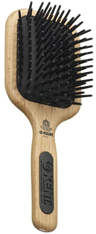 Kent Maxi-Phat Medium Detangle Paddle BRUSH Nylon Ball Tip Wooden