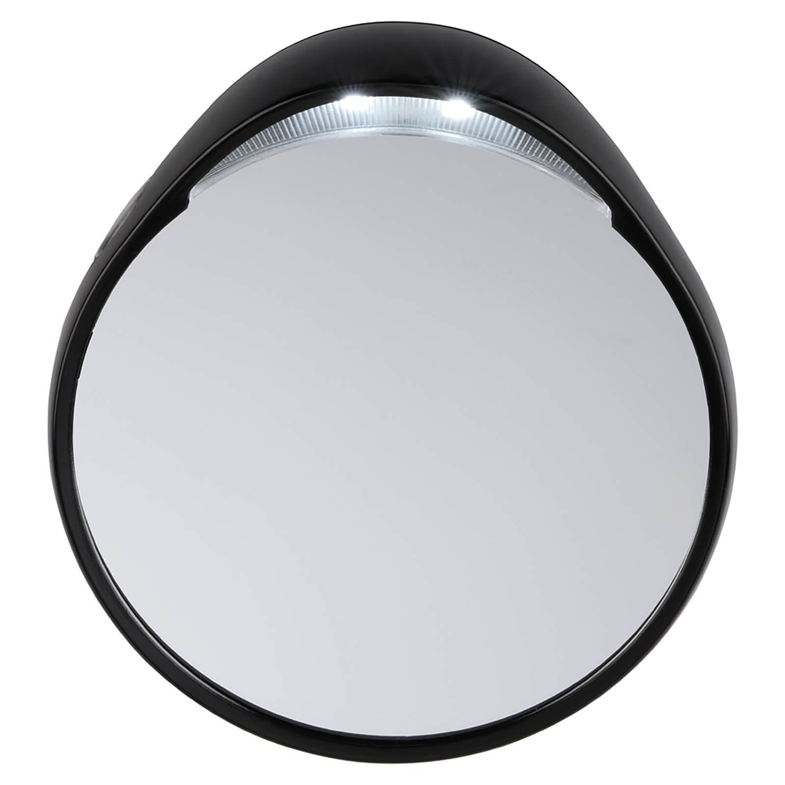 Tweezerman Tweezermate Small Round 10x Magnifying Lighted Lit Travel Mirror